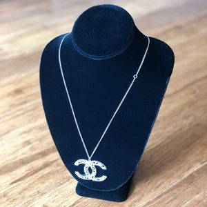 CHANEL CC Pendant and Necklace. Authentic w/ Box